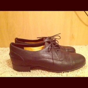 Madewell Black Leather Oxfords