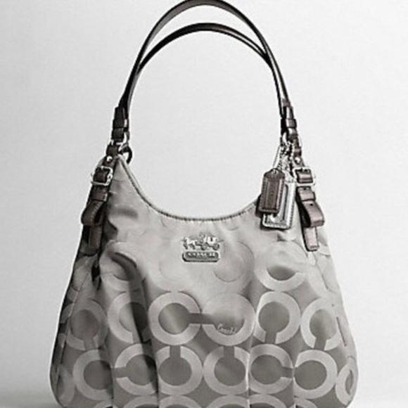 Coach Handbags - Coach Madison Op Art Sateen Maggie Shoulder Bag 58feef1148025