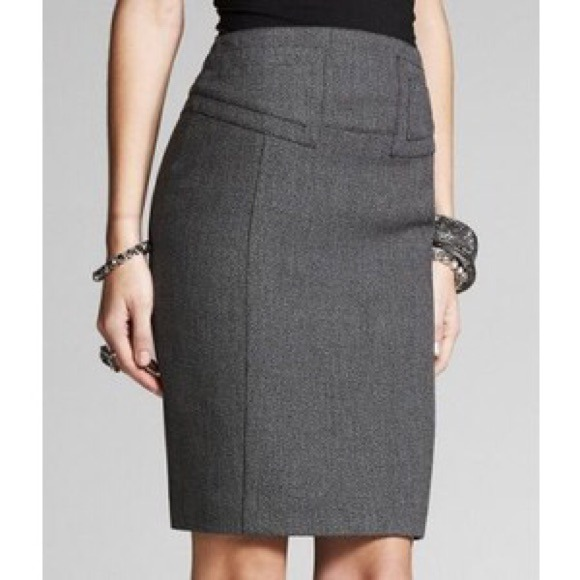80% off Express Dresses & Skirts - Express high waist charcoal ...