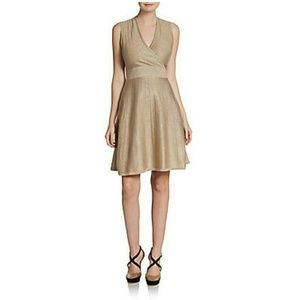 Host Pick! Calvin Klein Gold Lurex Fit Flare Dress