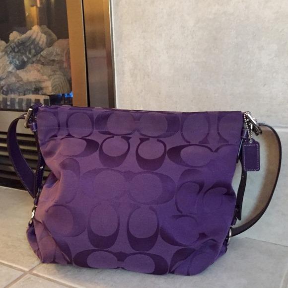 Authentic purple coach purse