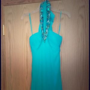 Sequined Blue Cache Dress
