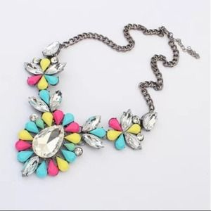 Jewelry - Make an Offer! Colorful Resin Statement Necklace