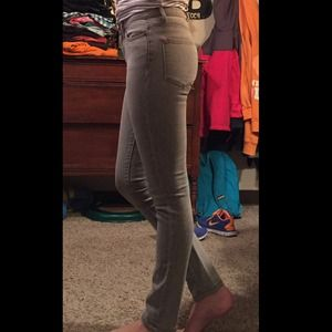 Grey high-waisted BDG skinny jeans 