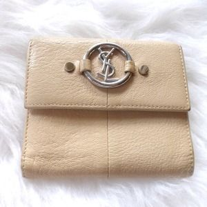 Yves Saint Laurent Clutches & Wallets - + YSL authentic vintage ivory leather wallet