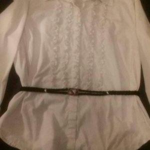 Braided Black Belt w/Hummingbird & Rose Closure