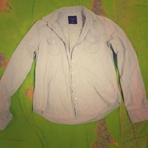 Light washed jean shirt