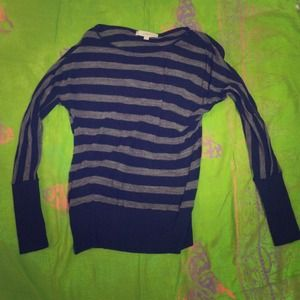 Long sleeve black and gray stripes