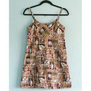 NWOT 90s Aloha Print Sun Dress
