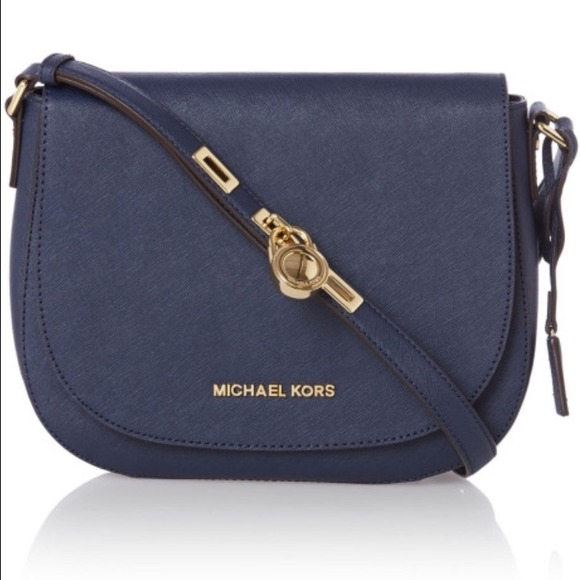 52% off Michael Kors Handbags - Navy Michael Kors Hamilton ...