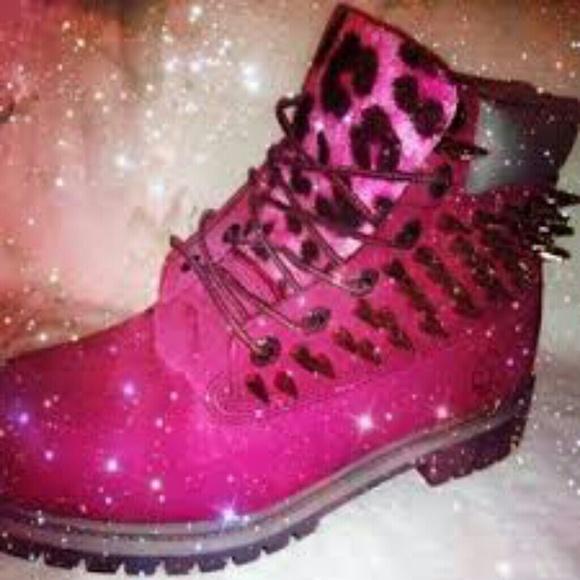 Custom made timberland boots NWT