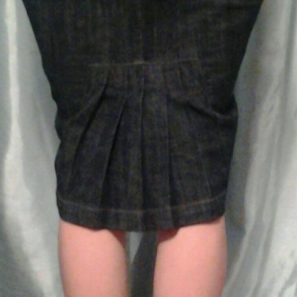 boom boom jeans - Dark wash denim skirt pleated back from Lili ...