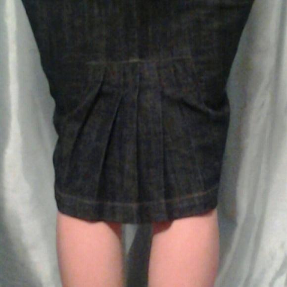 boom boom jeans - Dark wash denim skirt pleated back from Lili ...