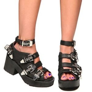 Jeffrey Campbell Buckled Wedges