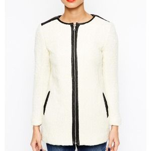 ASOS collarless coat
