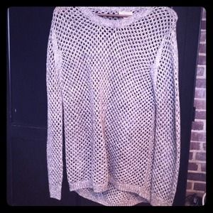 Sparky silver long sweater.