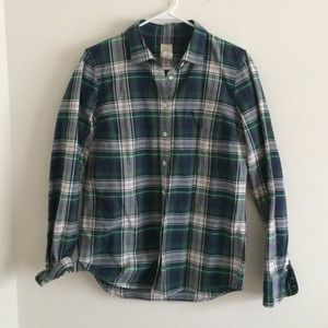 J.Crew boy shirt plaid button up size 6