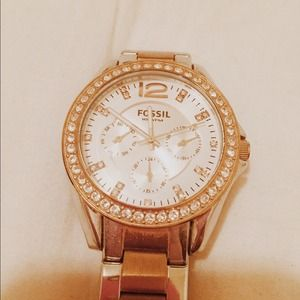 Fossil Mixed Metal Gold Boyfriend Watch