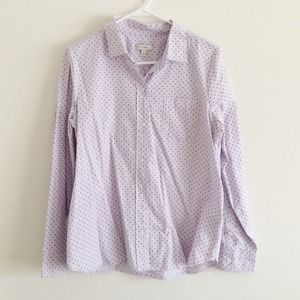 J.Crew lilac polka dot button up size 10
