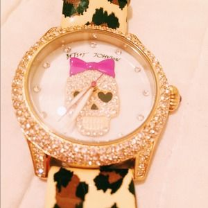 Betsey Johnson Leopard Watch + Bracelet Bundle