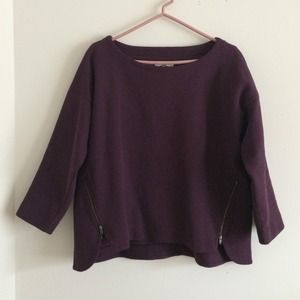 Madewell plum side zipper top size M