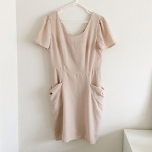 Forever 21 nude blush dress size L