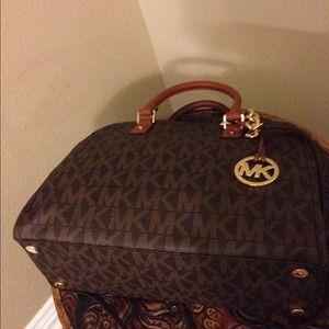 11d4fc950a6d MICHAEL Michael Kors Bags - Brand New Michael Kors MK brown Logo Bowling Bag