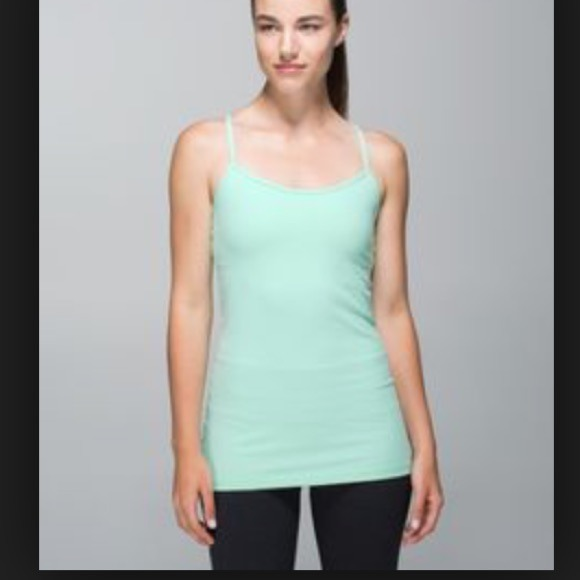 b1570e4d4e10d lululemon athletica Tops - Mint Power Y tank Luluemon