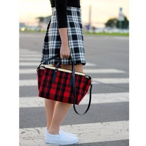 UNIQLO Dresses & Skirts - [Uniqlo]plaid wrap skirt