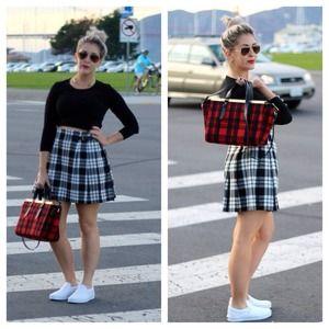 UNIQLO Skirts - [Uniqlo]plaid wrap skirt