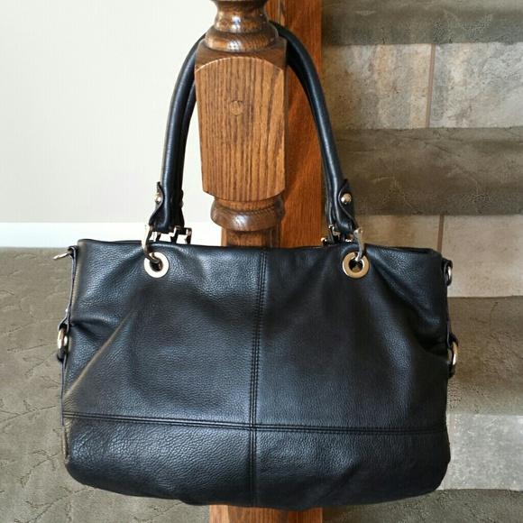 57db00ab57 TIGNANELLO black leather handbag purse. M 54b822db018efa2fb7006ded. Other  Bags ...