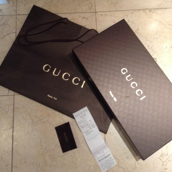 94% off Gucci Shoes - Gucci boots box and shopping bag from ...