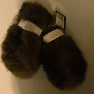 Barts Accessories - Barts fur / leather mittens.
