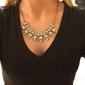Crystal J. Crew statement Necklace