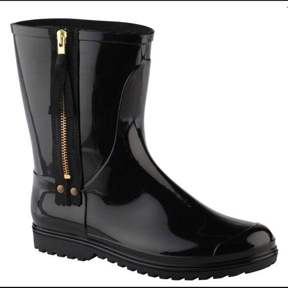 16% off ALDO Shoes - Black ALDO Rain Boots with Zipper size 10 ...