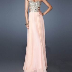 Dresses & Skirts - Pink Rhinestone long dress