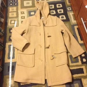 J. Crew Beige Toggle Duffle Coat - S