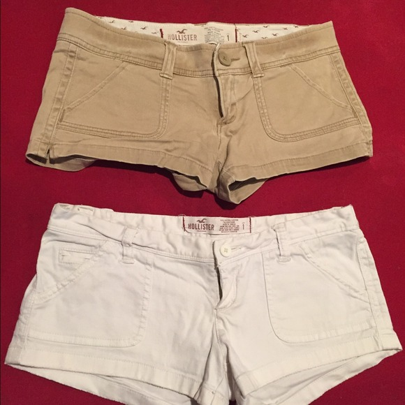 78% off Hollister Pants - Hollister shorts (khaki & white) size 1 ...