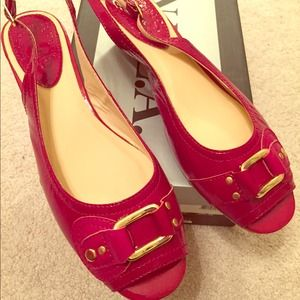 Brand new 8.5 Nordstrom Red sandal flats org. box