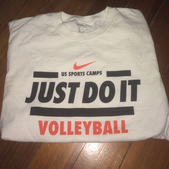 b8c0afdf88 Nike Tops | White Volleyball T Shirt | Poshmark