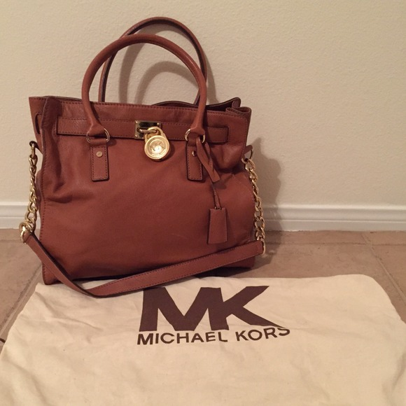 9da616b689cc Michael Kors Camel Brown Leather Tote Bag NO TRADE.  M 54b8b22e0b47d329f504cd45