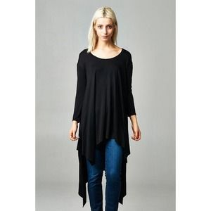 "FF discount 🎀 ""Flaunt It"" Asymmetrical Hem Top"