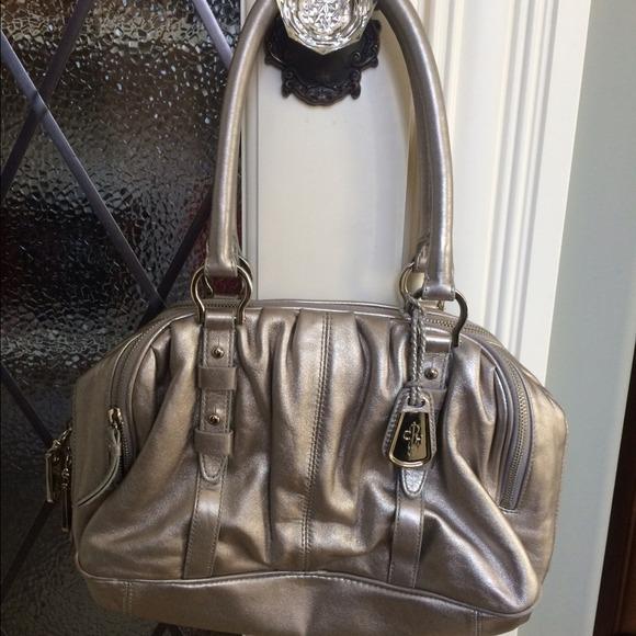 eb03d6712e Cole Haan Handbags - Cole Haan Metallic Silver Handbag