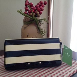NWT Kate Spade wallet clutch ~ black and cream