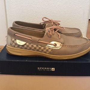 Sperry Top-Sider Shoes - LIKE NEW Sperry-Topsider Grey Houndstooth Shoes