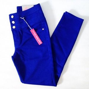 | new | blue high-waisted pants