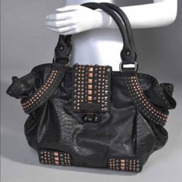 630084b0eee6 Christian Audigier Handbags - Christian Audigier Black Heavy Metal Bag