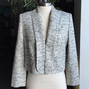 NWT Alice+Olivia Gold, Black & Cream Tweed Jacket