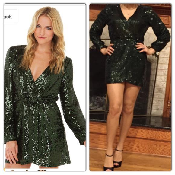 44% off AKIRA Dresses & Skirts - Akira wild tonight emerald green ...
