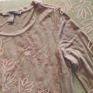 Forever 21 Tops - Mauve Lace Long Sleeve Top